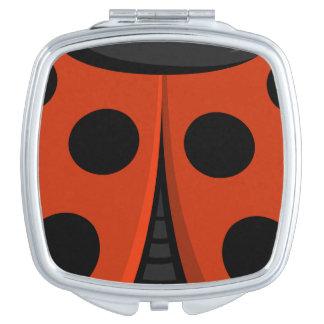 Ladybug Shell Mirror For Makeup