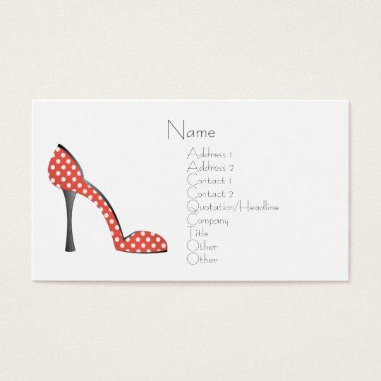Ladybug Shoe Business Card