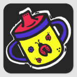 ladybug sippy cup square stickers