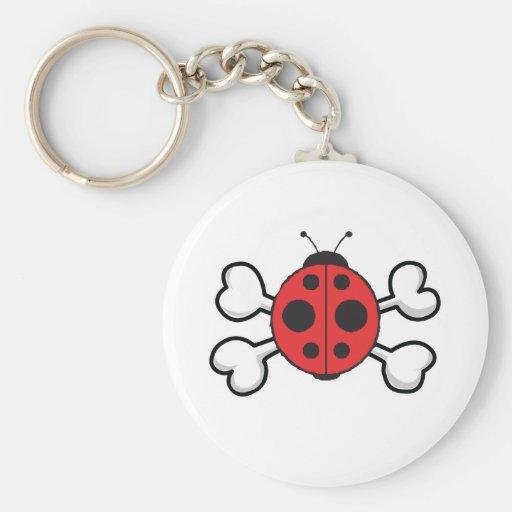 ladybug Skull and Crossbones Keychain