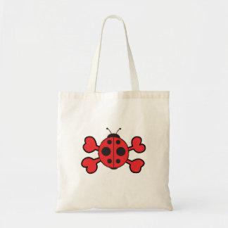 ladybug Skull red Crossbones Budget Tote Bag