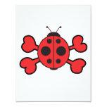ladybug Skull red Crossbones Custom Announcements
