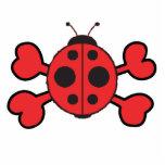 ladybug Skull red Crossbones Photo Cutout