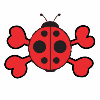 ladybug Skull red Crossbones Photo Cutout