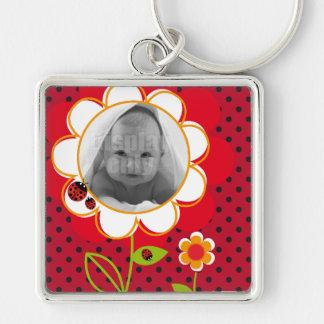 Ladybug square keychain