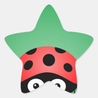 Ladybug Star Sticker