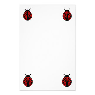 Ladybug stationery