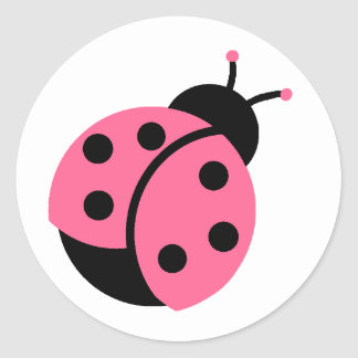 Ladybug Stickers/Envelope Seals Classic Round Sticker