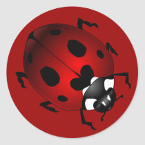 Ladybug Stickers Red Ladybugs Art Stickers