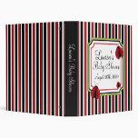 Ladybug Stripes Baby Photo Album Binder