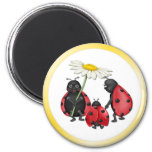 Ladybug Stroll 2 Inch Round Magnet