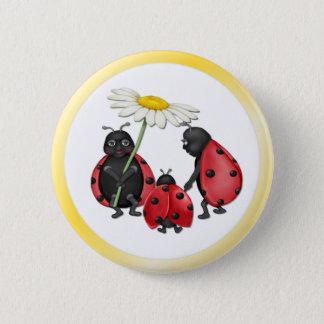 Ladybug Stroll Pinback Button