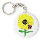 LadyBug & Sunflower Keychain