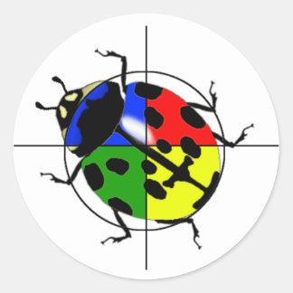 Ladybug Target Sticker