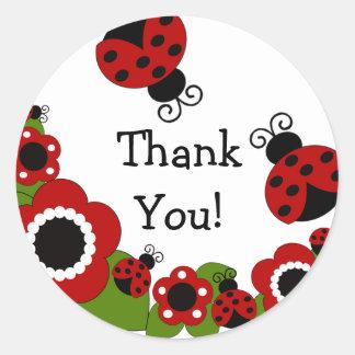 Ladybug Thank You Birthday Sticker