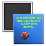 Ladybug Thank You  Magnet Fridge Magnet