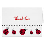 Ladybug Thank You Note Cards Red Black