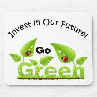 Ladybug Think Green Mouse Pad