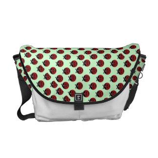 Ladybug tiles courier bag