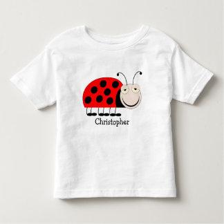 Ladybug Toddler Tee Shirt Just Add Name