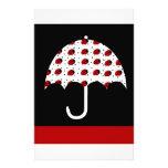 Ladybug Umbrella Design Custom Stationery