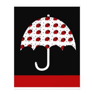 Ladybug Umbrella Design Full Color Flyer