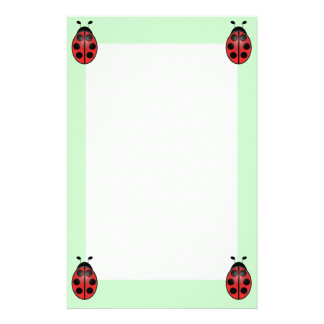 Ladybug Unlined Stationery