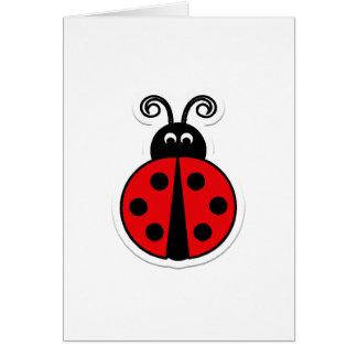 Ladybug Valentine Card