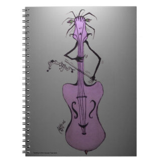 LadyBug VooDoo Ghoulie Band Cello/Upright Notebook