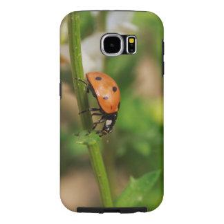 Ladybug Walking on a Daisy Stem Samsung Galaxy S6 Case