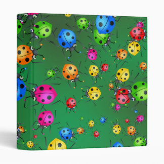 Ladybug Wallpaper 3 Ring Binder