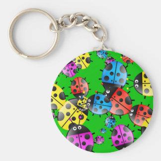 Ladybug Wallpaper Keychain