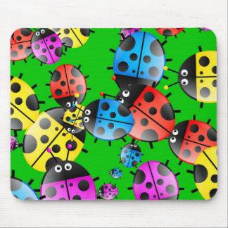 Ladybug Wallpaper Mouse Pad