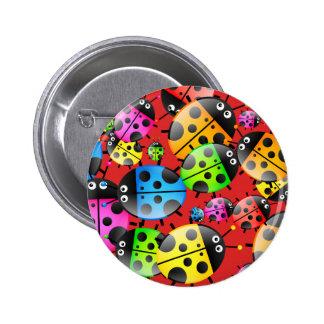 Ladybug Wallpaper Pinback Button