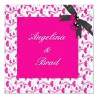 LADYBUG Wedding Invitation in Pink (<em>$2.26</em>)