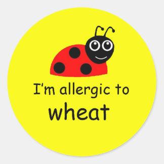 Ladybug wheat allergy alert sticker stickers