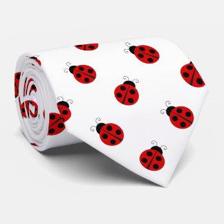 Ladybug White Background Tie