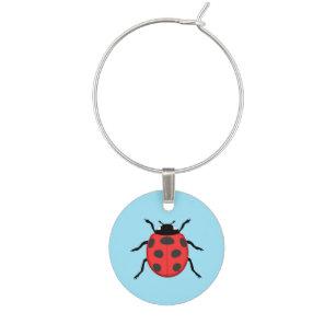 Ladybird Wine Glass Charms Bug Me