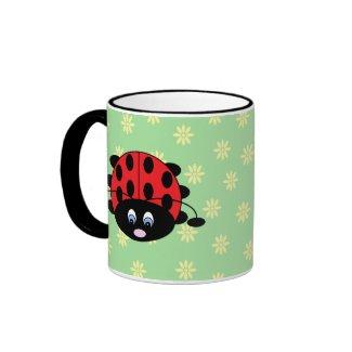 Ladybug with Flowers Mug mug