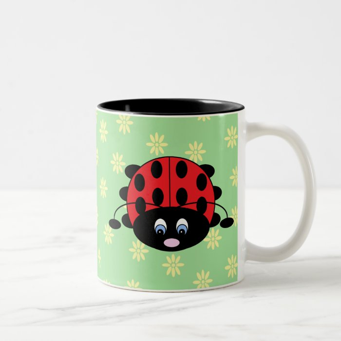 Ladybug with Flowers Mug