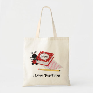 Ladybug with Homework Teacher's Tote Bag