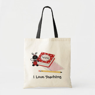 Ladybug with Homework Teacher's Tote Bag