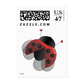 Ladybug with Open Wings Stamp