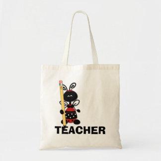 Ladybug with Pencil Teacher's Tote Bag