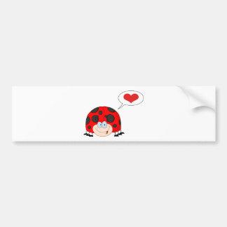 Ladybug With Speech Bubble Bumper Sticker