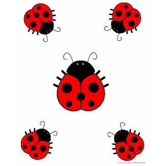 Ladybug Womens T-Shirt shirt