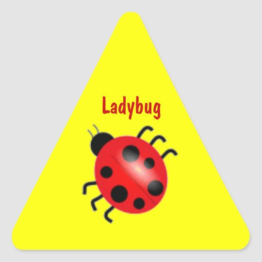 Ladybug Yellow Reward Sticker Seal