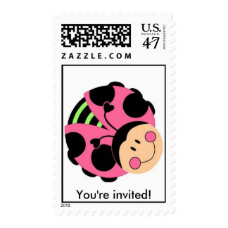 Ladybug You're invited! Postage Stamp