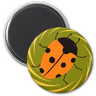 Ladybugs 2 Inch Round Magnet