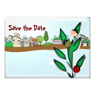 Ladybugs 5x7 Paper Invitation Card